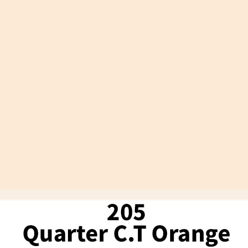 리필터 LR 206 Quarter CT ORANGE (CTO) 4600K (60x60cm)