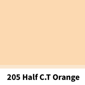 리필터 LR 205 HALF CT ORANGE (CTO) 3800K (60x60cm)